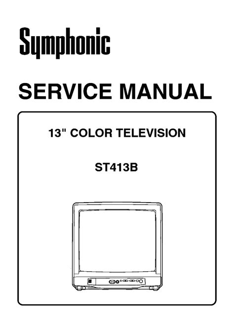 SYMPHONIC WF719 SM Service Manual free download