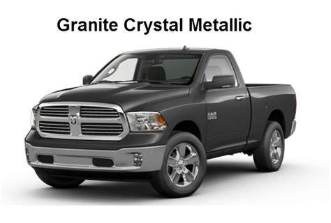 2017 ram 1500 truck exterior paint color options