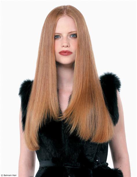 luxurious sleek long hairstyle  extensions  fullness
