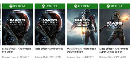 Mass Effect Andromeda Up For Preorder On Xbox One Xboxone