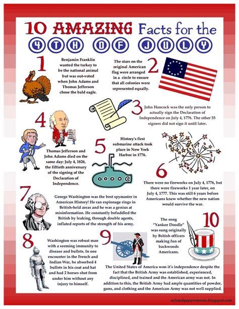 4th of july trivia 10 4th of july facts pdf summertime fun pinterest