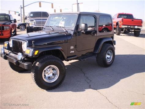 jeep sahara black 2003 black clearcoat jeep wrangler sahara 4x4 26258938