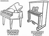 Piano Coloring Results sketch template