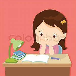 Kid boring about someting.back to school.cute girl bored ...