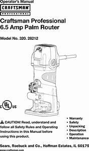 Craftsman Professional 28212 6 5 Amp Corded Fixed Base