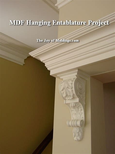 Corbel Installation by With Flat Stock Mdf Board For Decorative Molding
