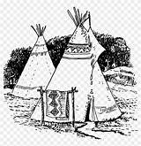 American Teepee Native Coloring Pngfind sketch template