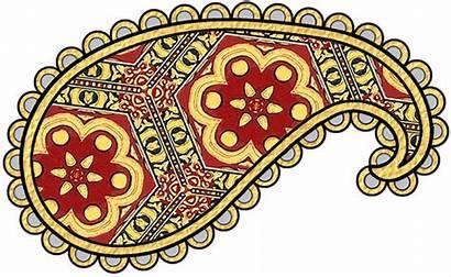 Paisley Clip Gold Pattern Patterns Navy Prints