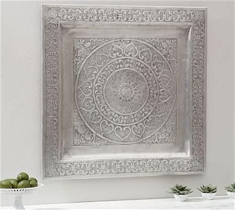 decorative metal square wall art pottery barn