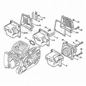 Stihl Ms 460 Chainsaw  Ms460 R  Parts Diagram  Muffler