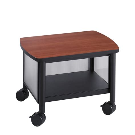 Black Plastic Under Desk Stand With Caster Wheels With