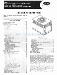 Carrier 48sd018 Installation Instructions Manual Pdf