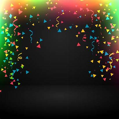 Celebration Background Abstract Vector Confetti Party Graphics