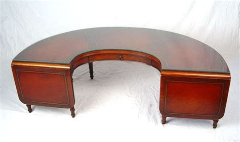 Everything about half moon is fantastic. 268: MAHOGANY HALF MOON COFFEE TABLE : Lot 268