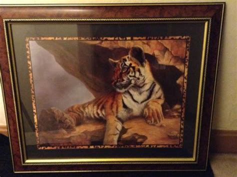 home interior tiger picture homco got free shipping us