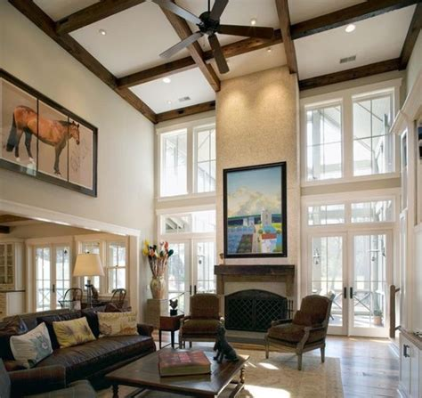 Painting Living Room High Ceilings by 10 High Ceiling Living Room Design Ideas Home High
