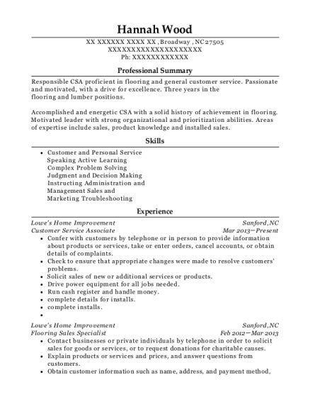 Lowes Resume Sle by Lowes Flooring Sales Specialist Resume Sle Conroe