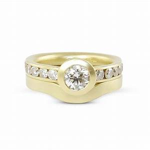 plain wedding band and engagement ring wwwimgkidcom With halo engagement ring with plain wedding band