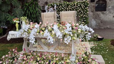 df mesa de novios  boda en jardin youtube