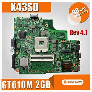 For Asus K43sd X43s A43sd Laptop Motherboard For Asus Rev 4 1 Gt610m 2gb Usb3 0 N13m Ge1 S A1