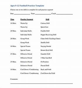 practice schedule templates 12 free sample example With football practice schedule template