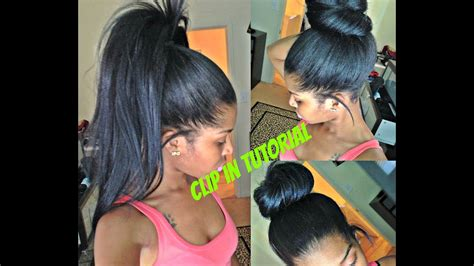 High Ponytail And Bun With Clip Ins ( No Lumps!!)