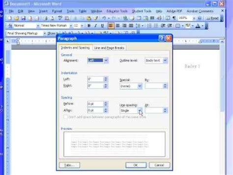 Format In Ms Word by Formatting Papers To Correct Mla Format Using Ms Word