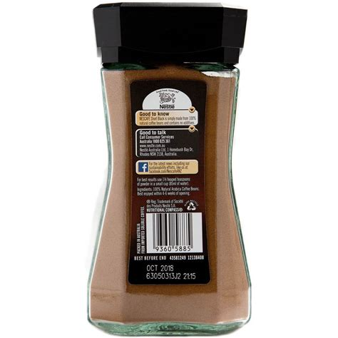 Put the nescafe granules in a coffee mug. Nescafe Instant Coffee Short Black 100g | Woolworths