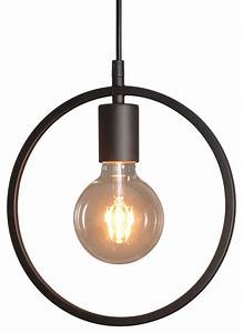 Black barn metal geometric hanging pendant light