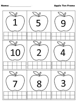Fall Ten Frames by Robyn's Resource Room | Teachers Pay ...