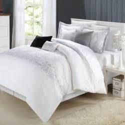 grace white comforter bed in a bag set 8 piece ebay