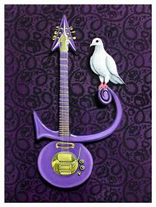 Jared Aubel Art Prince painting REST IN PURPLE - Jared ...