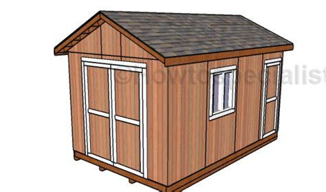 10 x 16 wood shed plans 10x16 shed plans howtospecialist how to build step by