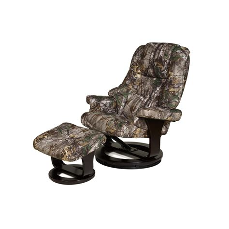 Camo Ottoman by Relaxzen Camo 8 Motor Recliner With Heat And