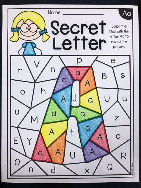alphabet worksheets secret letters distance learning