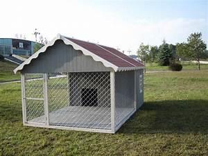 Niche Interieur Pour Chien : niche pour chien avec enclos idees pinterest niche pour chien niche et niche chien ~ Melissatoandfro.com Idées de Décoration