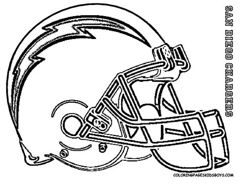 Coloring Pages Football Helmet Kidsfreecoloring.net