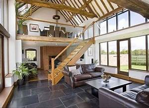 this upstairdownstair barn conversion looks amazing with With interior design ideas for barn conversions
