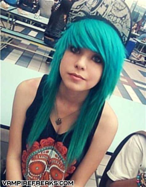 Blue Emo Hair Looks Soooo Good Emo Girls And Hair