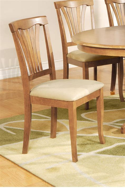 set of 6 avon dining chairs with microfiber upholstery