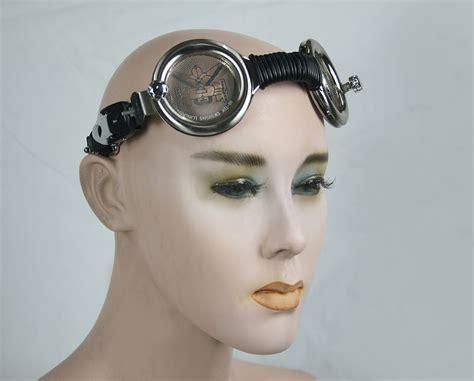 motorcycle aviator retro futuristic Steampunk Goggles mask