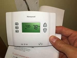 Honeywell Thermostat Rth2300 Programming Instructions