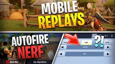 fortnite mobile news replay mode autofire fps