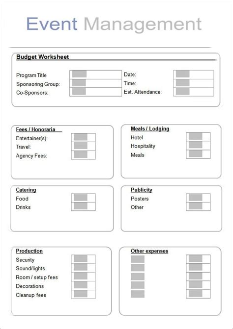 event planning template   documents  word
