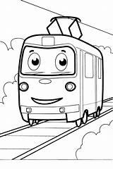 Tram Coloring Pages раскраски категории из все Transport sketch template
