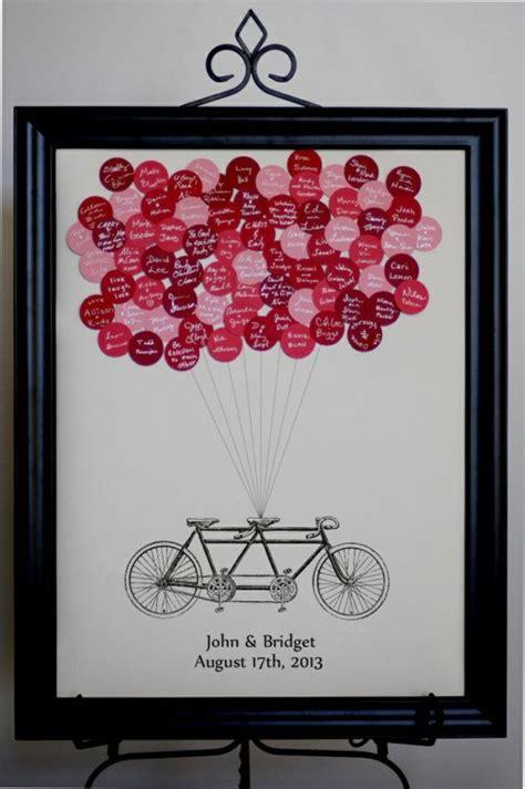 gaestebuch zur hochzeit fahrrad bild ballons namen schwarz