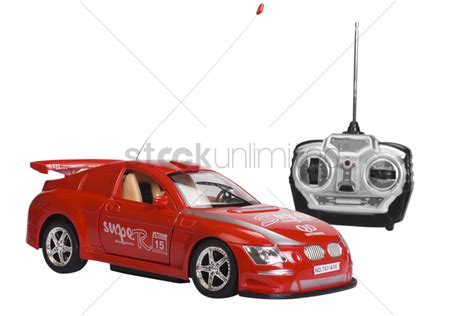 Remote Controlled Toy Car With A Game Controller Stock