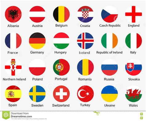 Short football 3x3 2 1. Flags Of Euro 2016 Stock Illustration - Image: 70665706