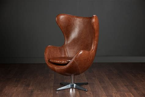 brown leather egg swivel chair mecox gardens