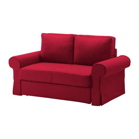 backabro sofa cama  plazas nordvalla rojo ikea